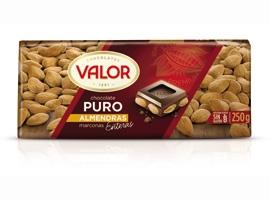 CHOCOLATE VALOR PURO ALMEN.250