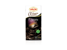CHOCOLATE VALOR NEGRO 70%S/A 125