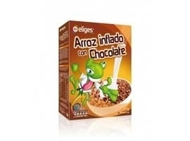 Arroz inflado con chocolate, 375 grs ELIGES