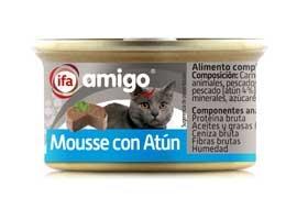 Comida de gato de mousse de atun, 85 grs AMIGO