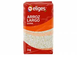 Arroz largo extra, 1 Kg ELIGES