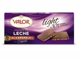 CHOC.LIGHT LECHE CARAM.100 VALOR
